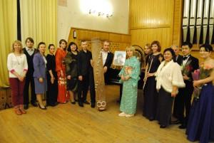 Участники концерта японской и русской музыки после выступления