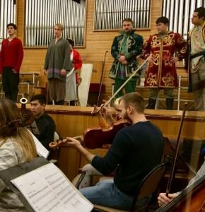 Репетиция Мировой премьеры оперы Э. Денисова «Иван-солдат»