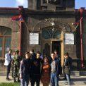 И. Калатай, А. Давтян, Д. Хайбуллина, Н. Прокопьев возле музыкальной школы в Гюмри